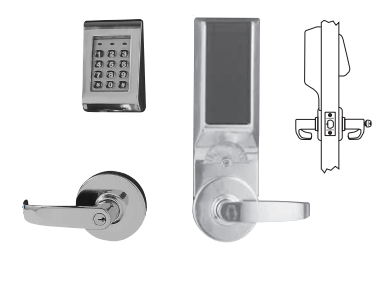 Sargent 28-KP10G77 Keypad Stand Alone Cylindrical Lock W/ Cylinder override standard feature