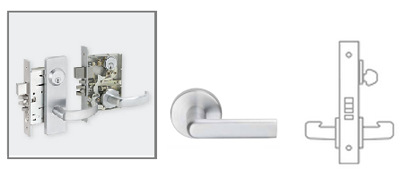 Schlage l9070 01 mortise classroom lock for Schlage mortise lock template