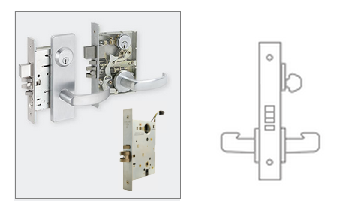 Schlage L9092 Mortise Lock Electrically Unlock Outside Lever W
