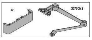Lcn 4111 Cush Door Closer Mounting Parallel Arm Push