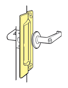 "Don-Jo LP-111-630 America's favorite for Outswinging Doors - completely covers the strike plate - 3"" x 11"""