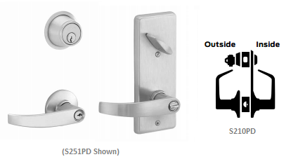 Schlage S210PD NEP Neptune Single Locking Interconnected Lock