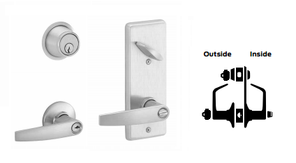 Schlage S251PD JUP Jupiter Double Locking Interconnected Lever Lock