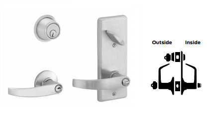 Schlage S251PD NEP Neptune Double Locking Interconnected Lever Lock