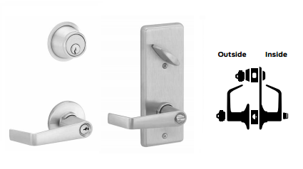 Schlage S251PD SAT Saturn Double Locking Interconnected Lever Lock