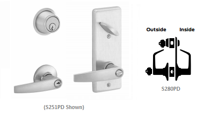 Schlage S280PD JUP Jupiter Interconnected Storeroom Lever Lock
