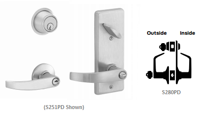 Schlage S280PD NEP Neptune Interconnected Storeroom Lever Lock
