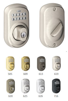 Schlage Be365 Ply Plymouth Keypad Deadbolt