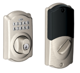 Schlage Connect BE369NXCAM619 Keypad Deadbolt Camelot Style Satin Nickel