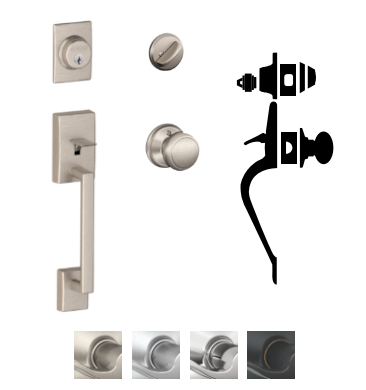 Schlage F60 Cen Century Entrance Handleset With And