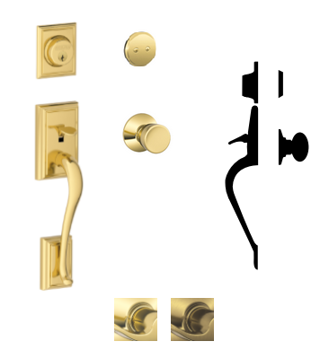Schlage F93 Add Addison Inactive Handleset With Bel