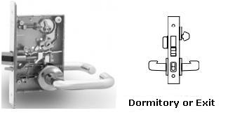 Sargent 8245 Dormitory Or Exit Door Mortise Lock