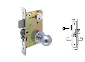Yale 8822 Mortise Dormitory or Exit Knob lock