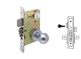 Yale 8847 Mortise Apartment corridor door knob lock