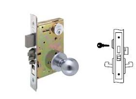 Yale 8860 Mortise Room door knob lock