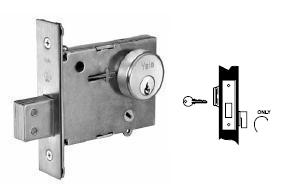 Yale 357 Single Cylinder x Classroom Thumbturn, Mortise Deadbolt