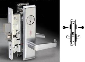 Yale 8817-2FL Mortise Apartment, exit or public toilet  lever lock