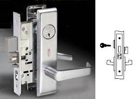 Yale 8822FL Mortise Dormitory or Exit Lever lock