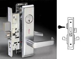 Yale 8860FL Mortise Room door lever lock