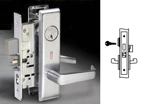 Yale 8861FL Mortise Dormitory or Storeroom lock lever lock