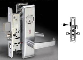 Yale 8867FL Mortise Dormitory or exit lever lock