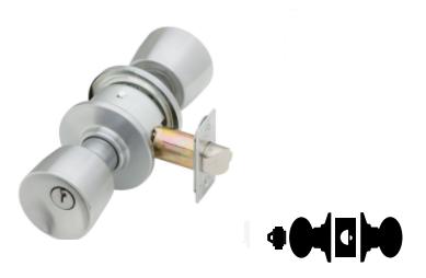 Storeroom Function Tulip Design Schlage A80PD TUL 626 C123 Keyway Series A Grade 2 Cylindrical Lock Satin Chrome Finish C123 Keyway
