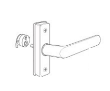 Adams Rite 4568 Eurostyle Deadlatch Handle - Straight Lever