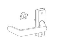 Adams Rite 4569 Eurostyle Deadlatch Handle - Return End Lever