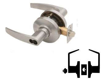 Satin Bronze Finish Jupiter Lever Design Schlage commercial AL70BDJUP612 AL Series Grade 2 Cylindrical Lock Classroom Function