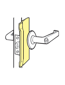 "Don-Jo BLP-207-DU For Key-in-lever Locks With Up To 3 -3/4"" Escutcheon - Duro Coated - 3-1/4"""