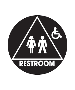 Don-Jo CHS-3 Title 24 Signs - Restroom