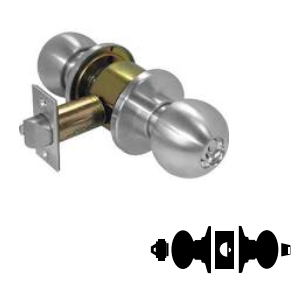Schlage D53PD PLY 605 C123 Keyway Series D Grade 1 Cylindrical Lock Entrance Function C123 Keyway Bright Brass Finish Plymouth Design