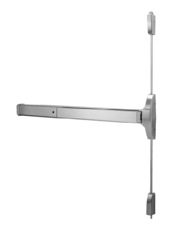 Dorma 9800 Narrow Stile Surface Vertical Rod Exit Device - Satin Stainless Steel