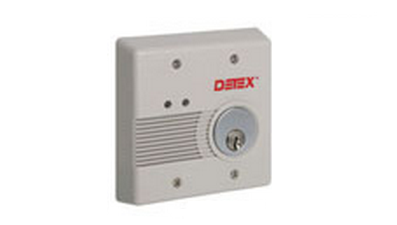 Detex EAX-2500F AC/DC External Powered Wall Mount Exit Alarm - Flush Mount