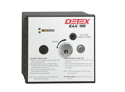 Detex EAX-3500 Timed Bypass Exit Alarm and Rechargeable Battery