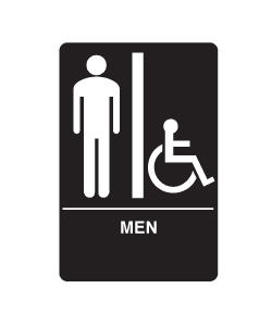 Don-Jo HS-9070-01 A.D.A. Signs - Men's/Handicap
