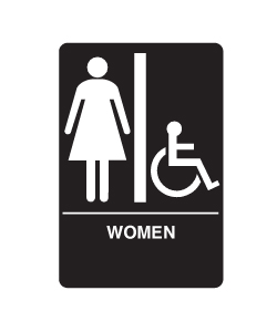 Don-Jo HS-9060-05 A.D.A. Signs - Women's/Handicap