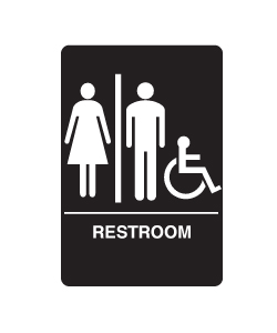 Don-Jo HS-9060-32 A.D.A. Signs - Women/Men/Handicap