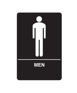 Don-Jo HS-9070-02 A.D.A. Signs - Men's room