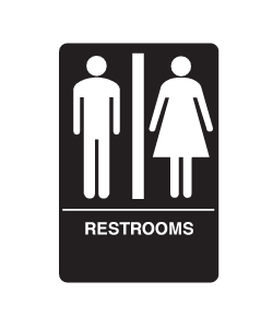 Don-Jo HS-9070-03 A.D.A. Signs - Restrooms