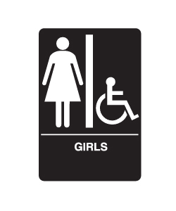 Don-Jo HS-9070-08 A.D.A. Signs - Girl's/Handicap