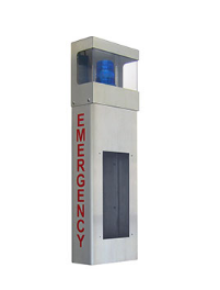 "Aiphone IS-WBHE, ADA Wall Mount Enclosure W/ Light Hood & ""Emergency"" Lettering"