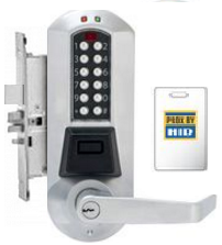 Kaba Eplex E5767XSWL-626-41, Pushbutton - Prox - Mortise lock, W/ deadbolt