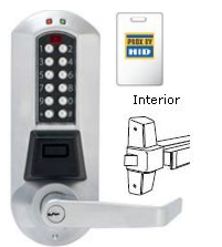 Kaba Eplex E5710BWL-626-41, Electronic Keypad - Prox - Exit Trim, IC for BEST