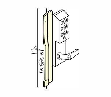 "Don-Jo KLP-110-630-LHR For Electronic Locks - 1-1/2"" x 10"""