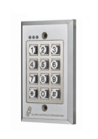Alarm Controls KP-200 Flush Mount Digital Keypad - Vandal-Resistant & Weather-Proof