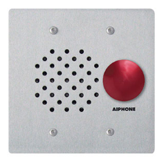 Aiphone LE-SSR Flush Mount 2-Gang Sub Station, Stainless Steel