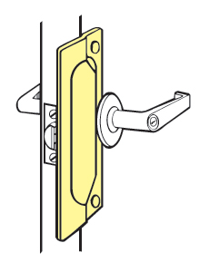 "Don-Jo LP-207-BP For Outswinging doors - Brass Plated - 2-3/4"" x 7"""