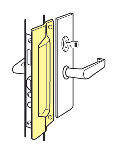 Don Jo Mlp 111 630 Latch Guard For Outswinging Doors