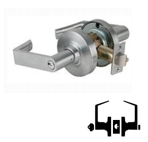 Rhodes Lever Design Bright Brass Finish Schlage Commercial ND50RDRHO605 ND Series Grade 1 Cylindrical Lock Entry//Office Function Push-Button Locking